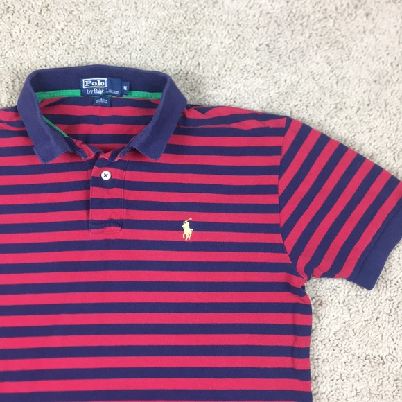 3ebf1fd79 ... discount code for polo ralph lauren red blue stripes polo shirt m 499c6  729cf